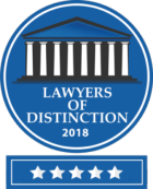 bauman-law-lawyers-of-distinction-2018-badge